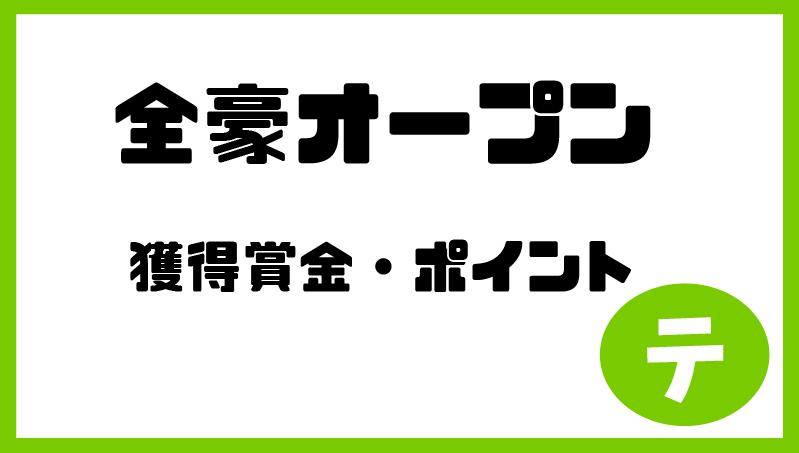 全豪オープン2020基本情報_賞金