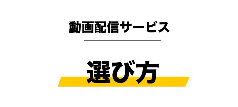 動画配信サービスダウンロード_選び方