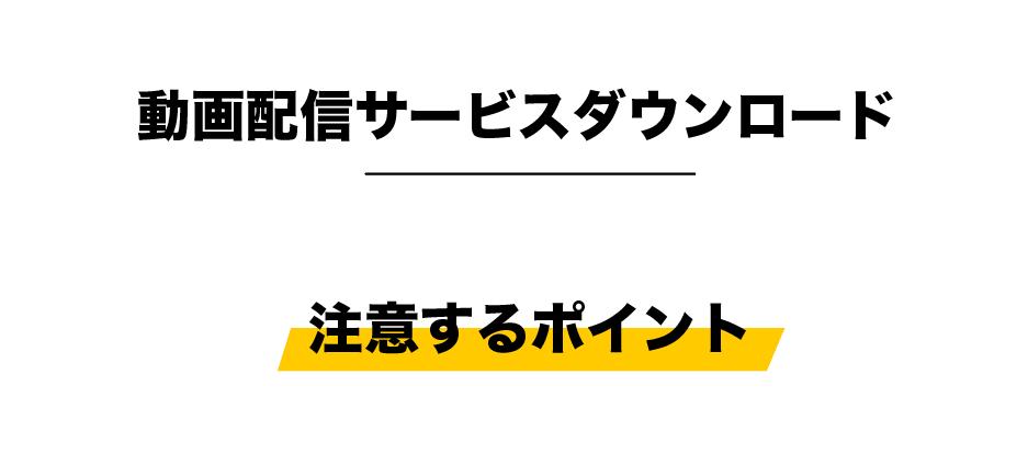 動画配信サービスダウンロード_注意点