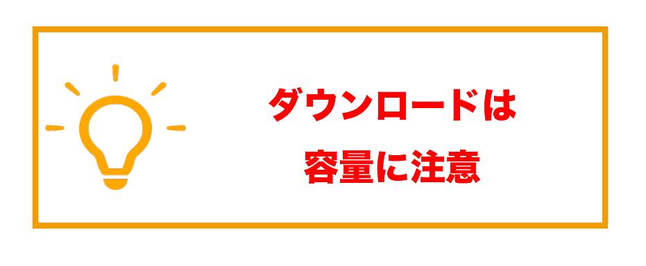 動画配信サービスダウンロード_容量に注意